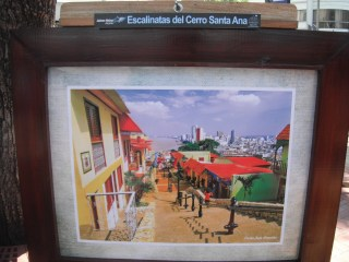 Painting of Santa Ana neighborhood
