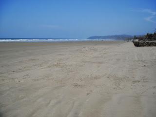Beach in San Jose, Santa Elena, Ecuador