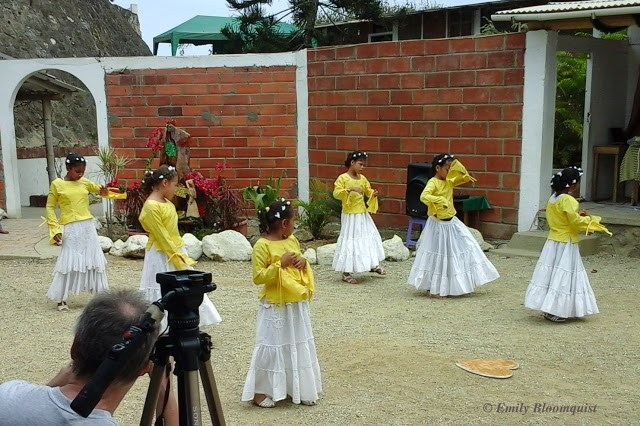 Synchronized dance routine by orphanage girls, Ecuador