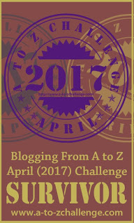 2017 A to Z Challenge Survivor Badge