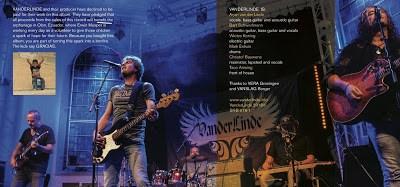 VANDERLINDE Live Trails album cover inside