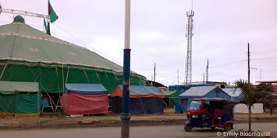 Former post-earthquake tents now in circus
