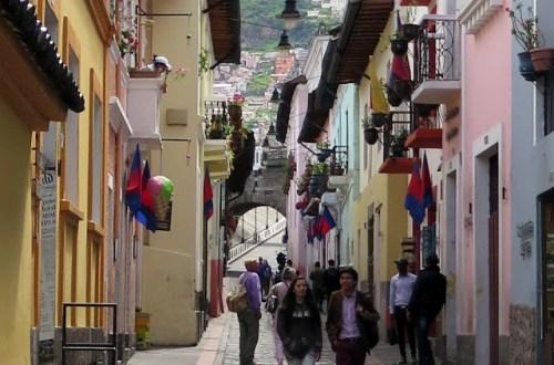 Calle La Ronda in Quito Ecuador