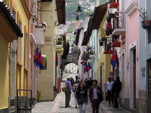 Calle La Ronda in Quito, Ecuador