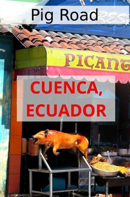 Pig road, Cuenca, Ecuador