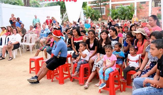 Crowd enjoying performance