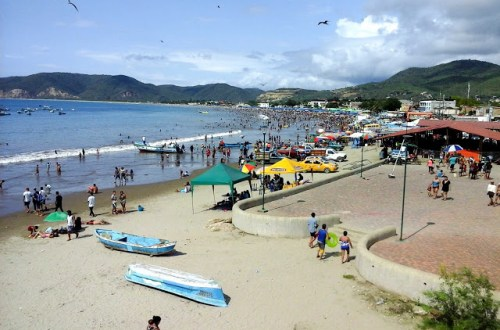 Puerto Lopez beach during Carnaval