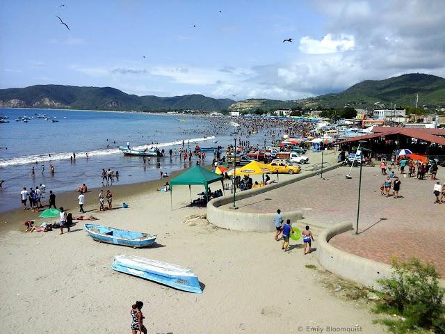 Puerto Lopez beach during Carnaval