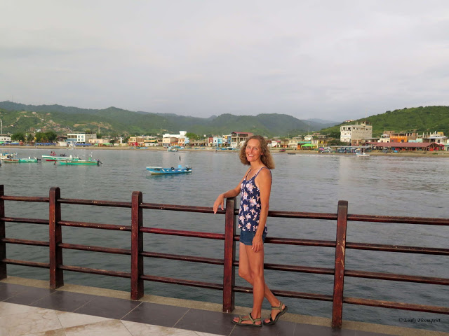 Emily on the Puerto Lopez pier