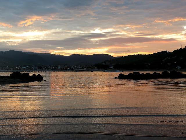 Sunrise over Puerto Lopez