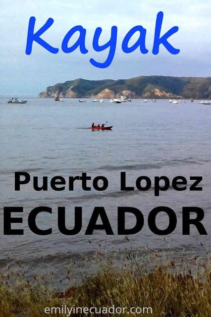 Kayak in Puerto Lopez, Ecuador