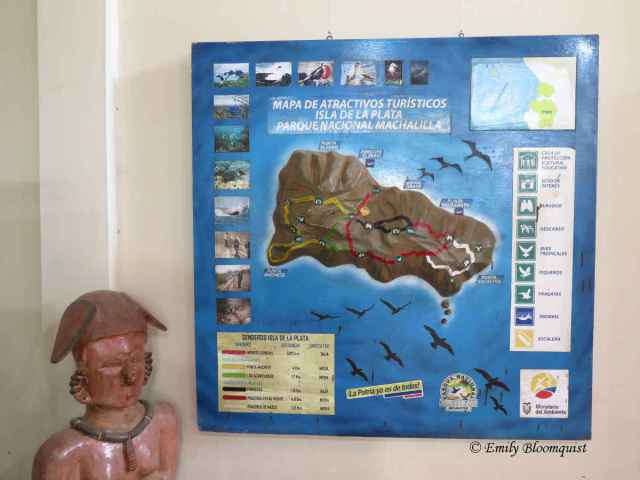 Ecuador's Machalilla National Park's Isla de la Plata hiking trails map