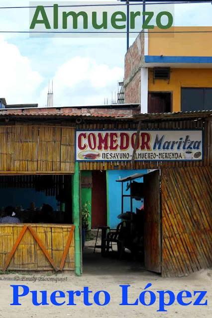 Almuerzo in Puerto Lopez, Ecuador