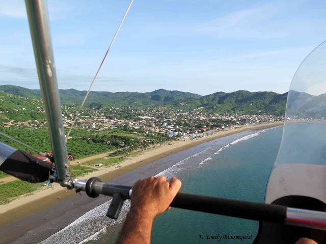 Ultralight view of Puerto Lopez, Ecuador