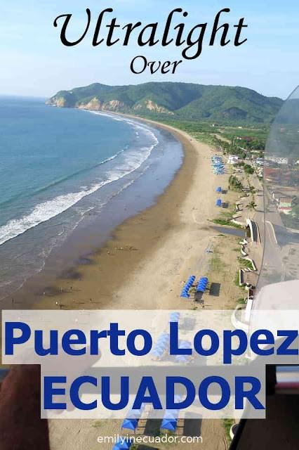 Ultralight flight over Puerto Lopez, Ecuador