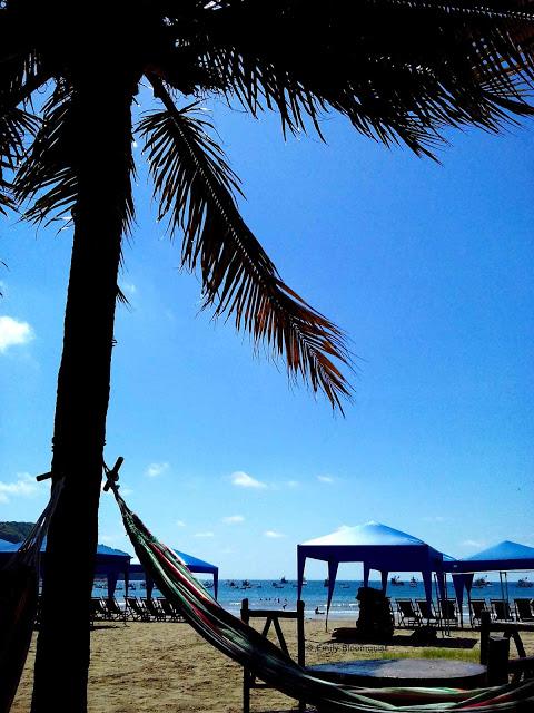 Hammock on Puerto Lopez beach