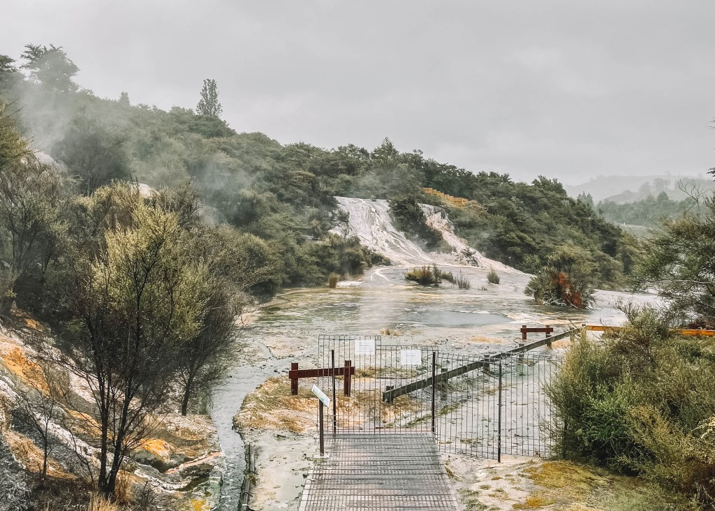 Boardwalk and thermal hot pools