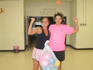 Marilyn & Susanne Reeves flexing some muscle
