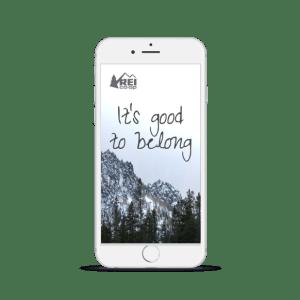 REI co-op membership page on iPhone