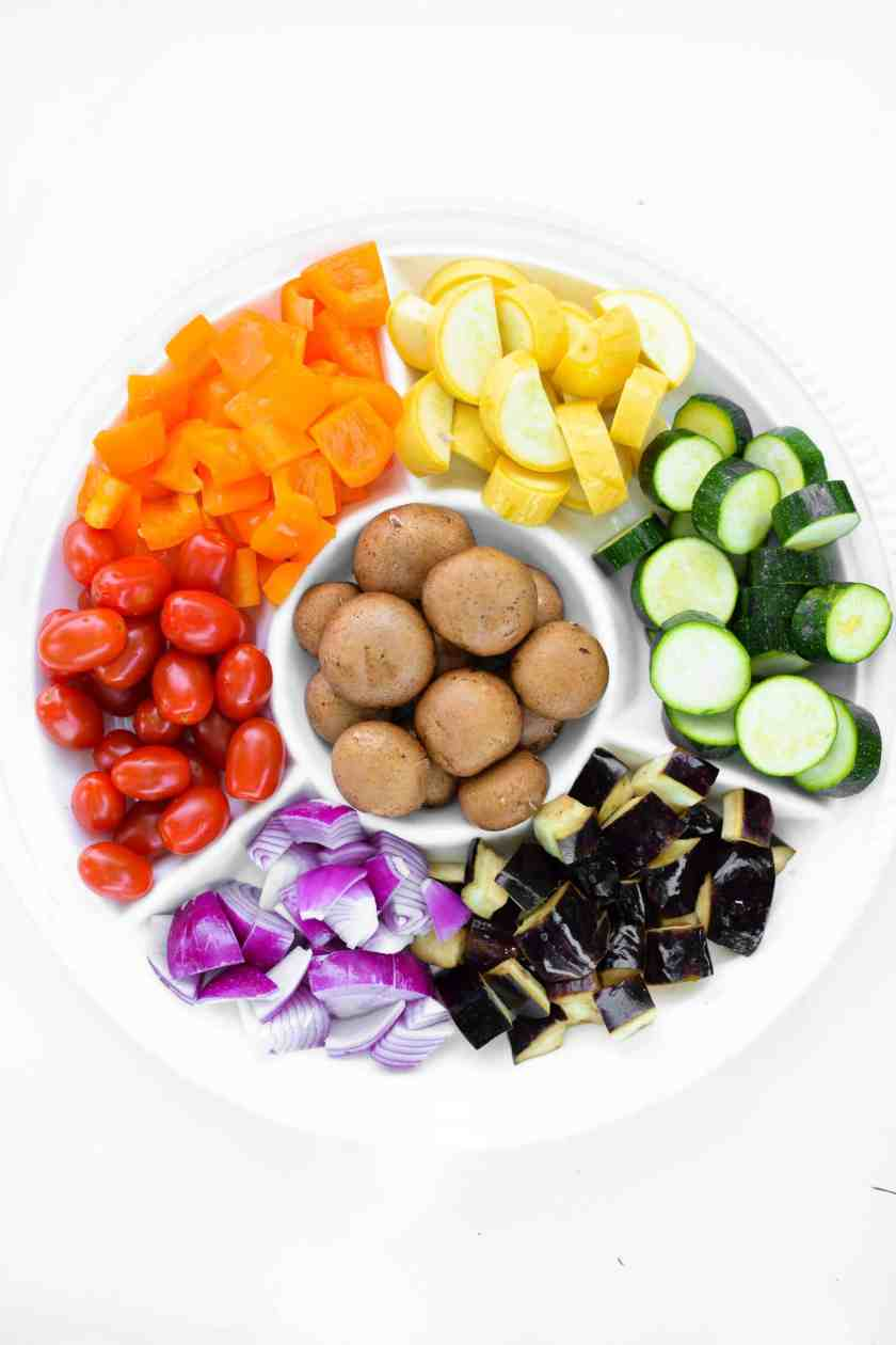 Rainbow Grilled Veggie Kabobs by Emily Kyle Nutrition