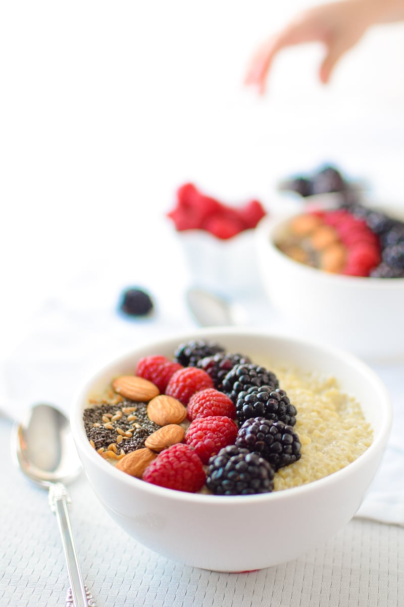Berry Quinoa Breakfast Bowl by Emily Kyle Nutrition