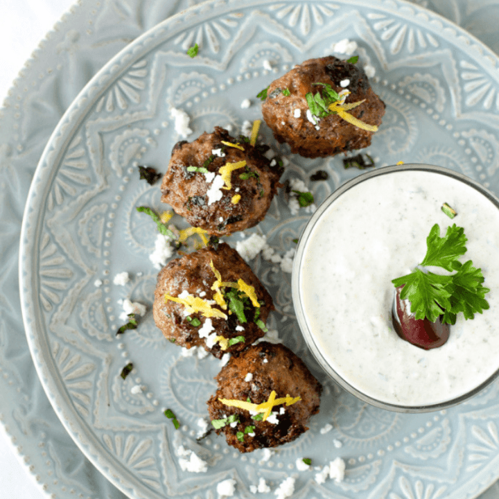 Greek Lamb Meatballs