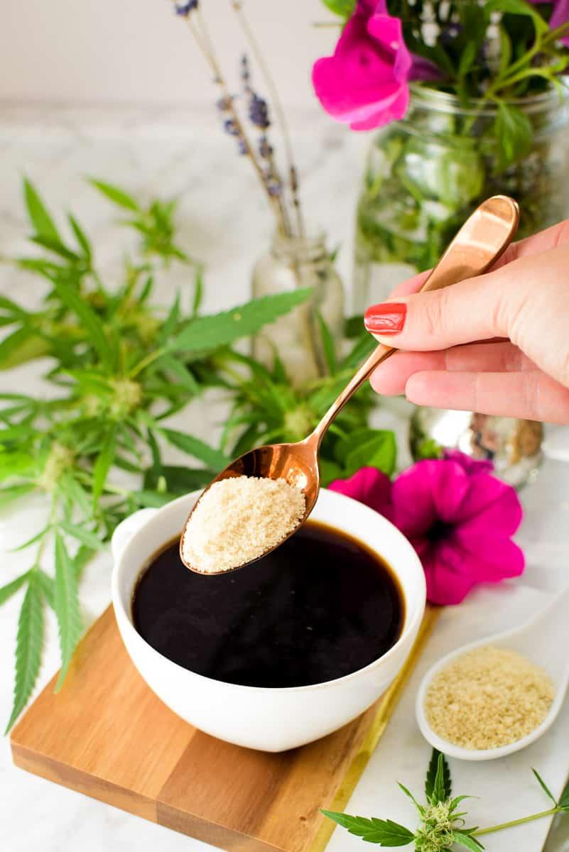 Cannabis Coffee made with Cannabis Sugar