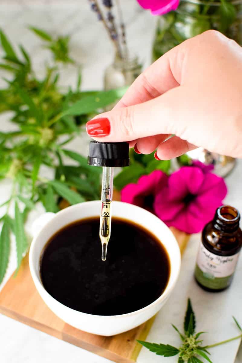 Cannabis Coffee Made with CBD Oil