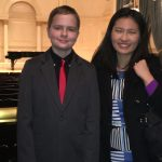 Emily and student after MDP honors recital performance at Carnegie Hall