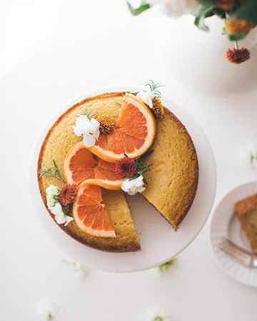 Semolina Cake with Rosemary & Grapefruit Syrup