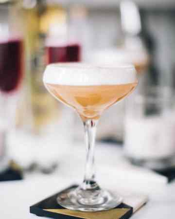 Pear Quince and Elderflower Cocktail