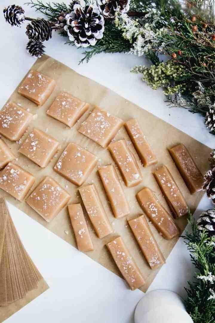 Salted Honey & Vanilla Bean Caramels