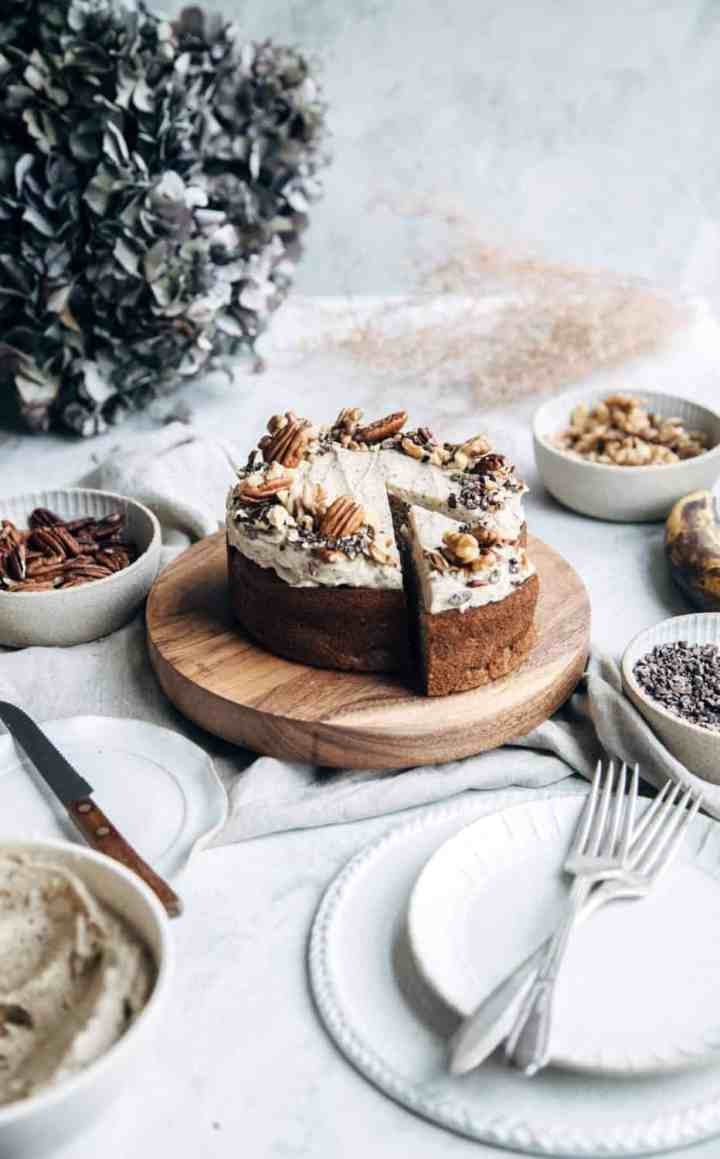 Banana Cake with Brown Butter Buttercream