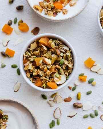 Seeded Apricot & Coconut Granola with Yogurt