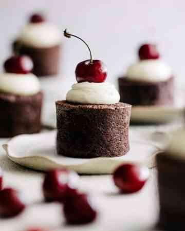 Cherry Chocolate Mini Cakes