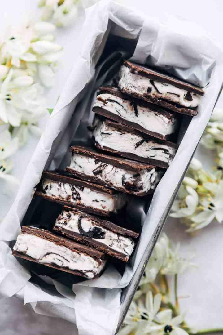 Chocolate Cookie Dough Ice Cream Sandwich