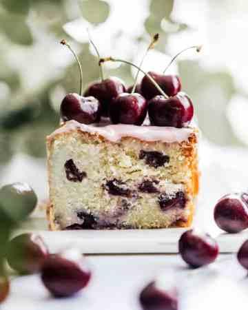 Cherry Ricotta Pound Cake