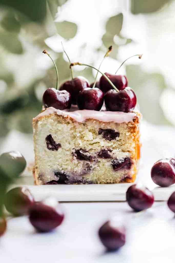 Cherry Ricotta Pound Cake with Cream Cheese Icing