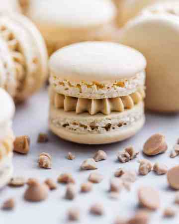 Butterscotch, Salted Caramel, and Toffee Macaron