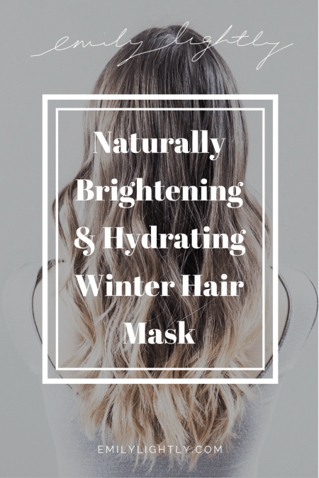 Naturally Brightening & Hydrating Winter Hair Mask