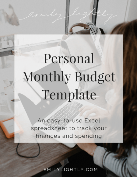 personal monthly budget template emily lightly