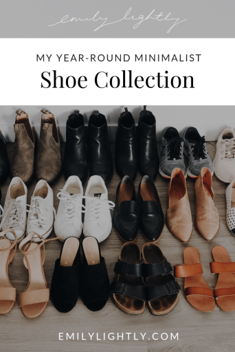 My Year-Round Minimalist Shoe Collection - Emily Lightly