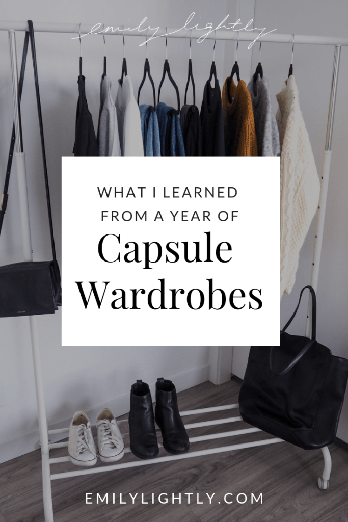 What I Learned from a Year of Capsule Wardrobes - Emily Lightly
