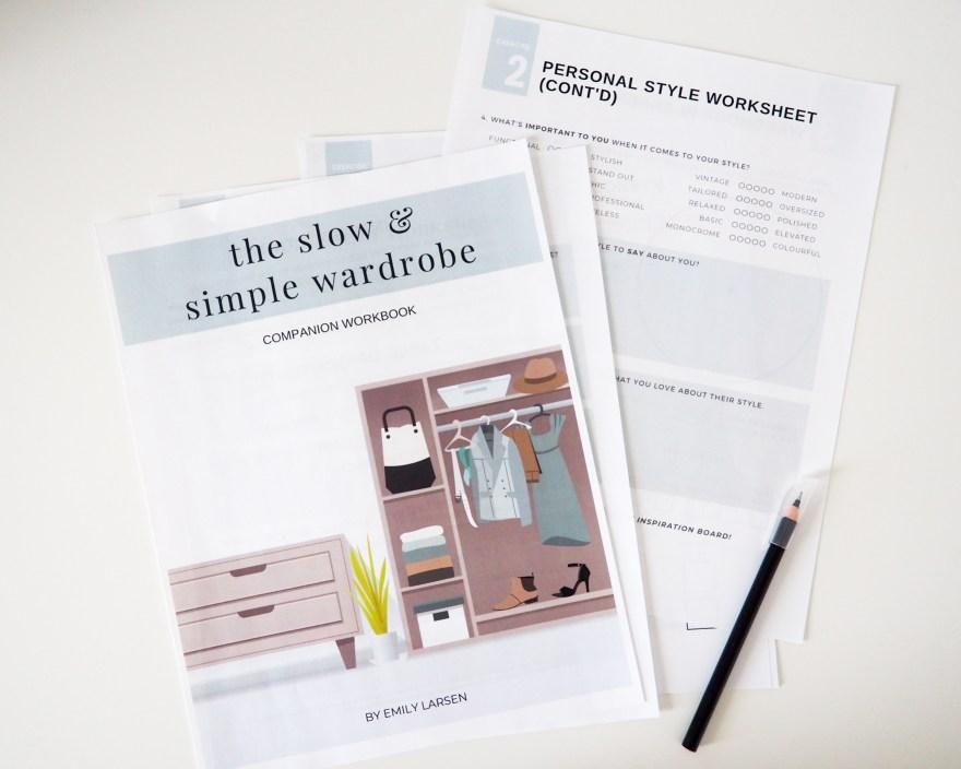 The Slow & Simple Wardrobe eBook & Companion Workbook by Emily Larsen - Emily Lightly
