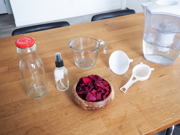 DIY Rose Water Facial Toner - Emily Lightly