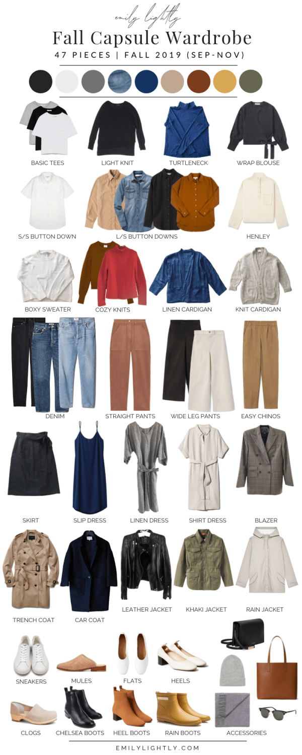 My Fall 2019 Capsule Wardrobe - Emily Lightly