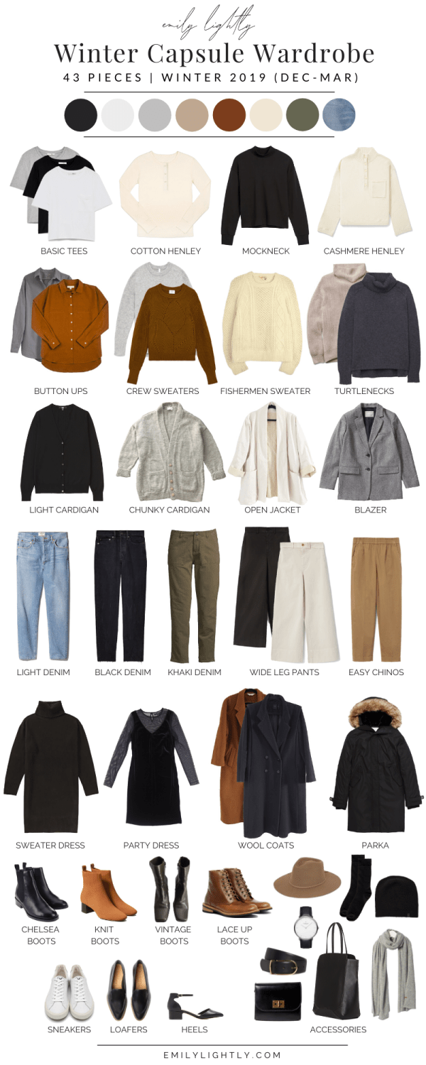 My Winter 2019 Capsule Wardrobe - Emily Lightly