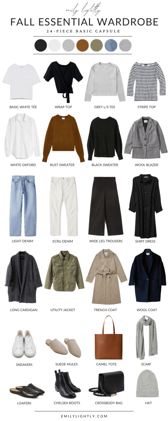 Fall Essential Capsule Wardrobe - Emily Lightly