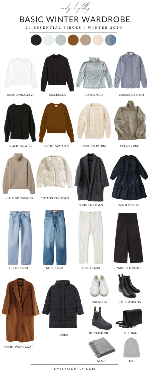 Basic Winter Capsule Wardrobe