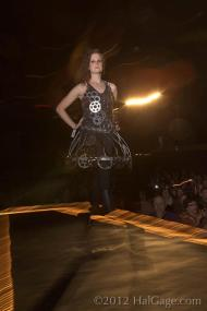 2012 Object Runway IGCA Bicycle Sprocket Dress Amanda Longbrake Odegard 2
